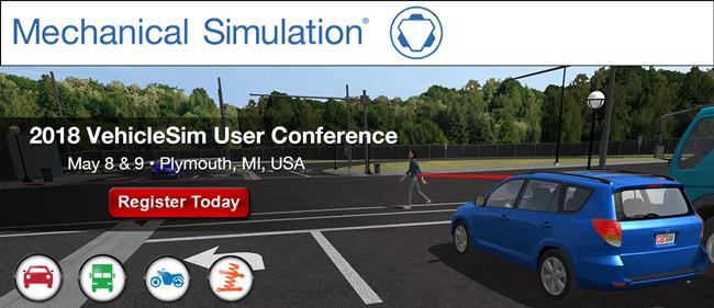 Mechanical Simulation 2018 VehicleSim User Conference
