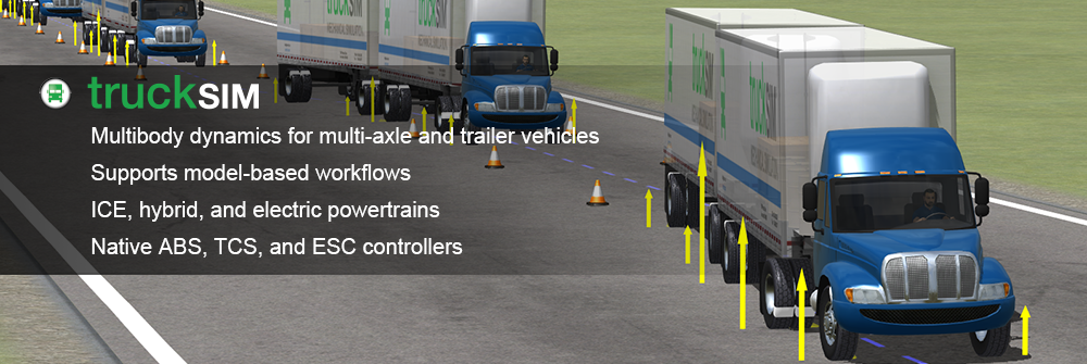 TruckSim - Design, develop, test and plan vehicle programs