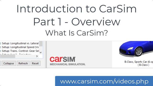 Carsim Overview